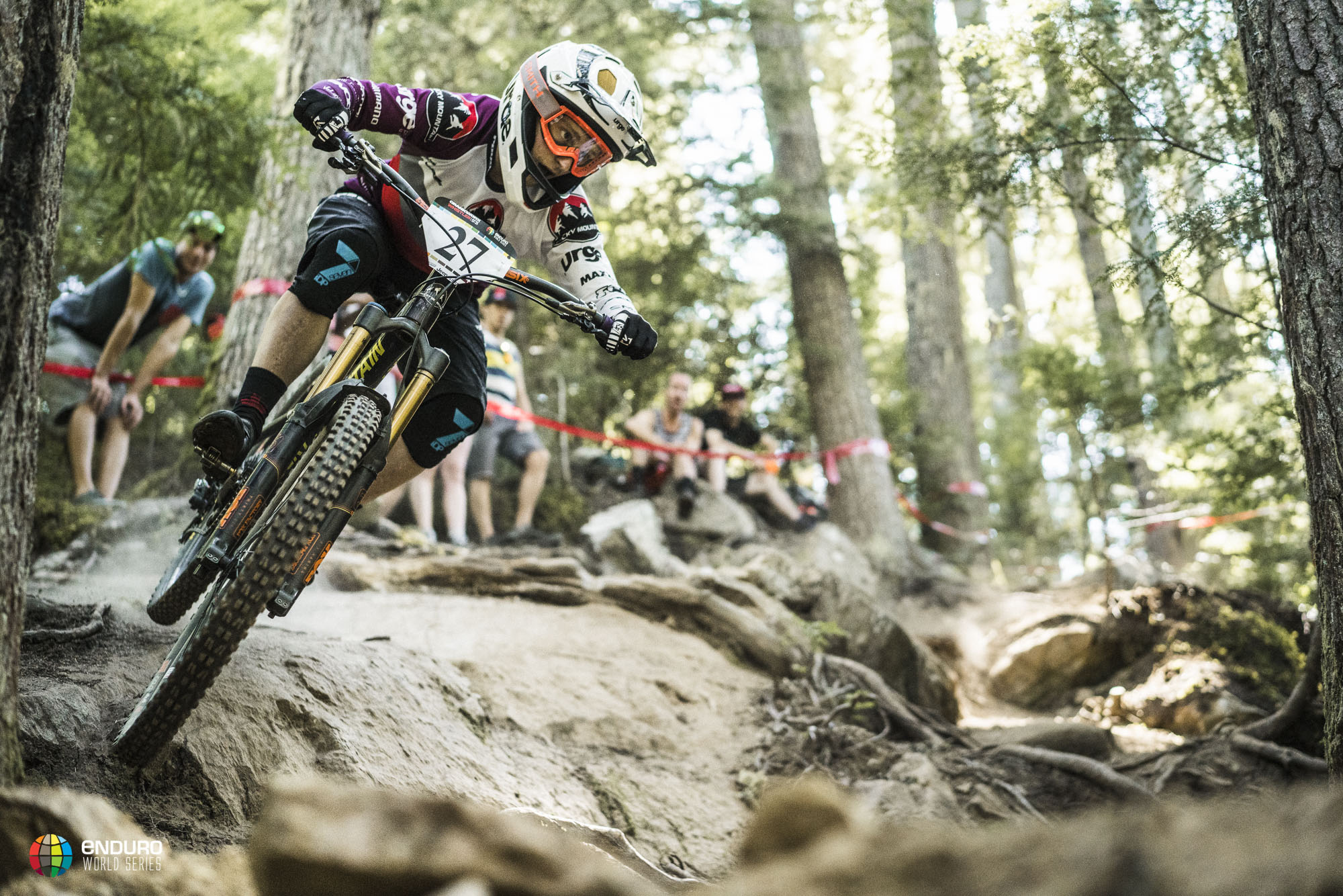 Jesse Melamed, the local hero absolutely smashed stage 2 and nearly won the event