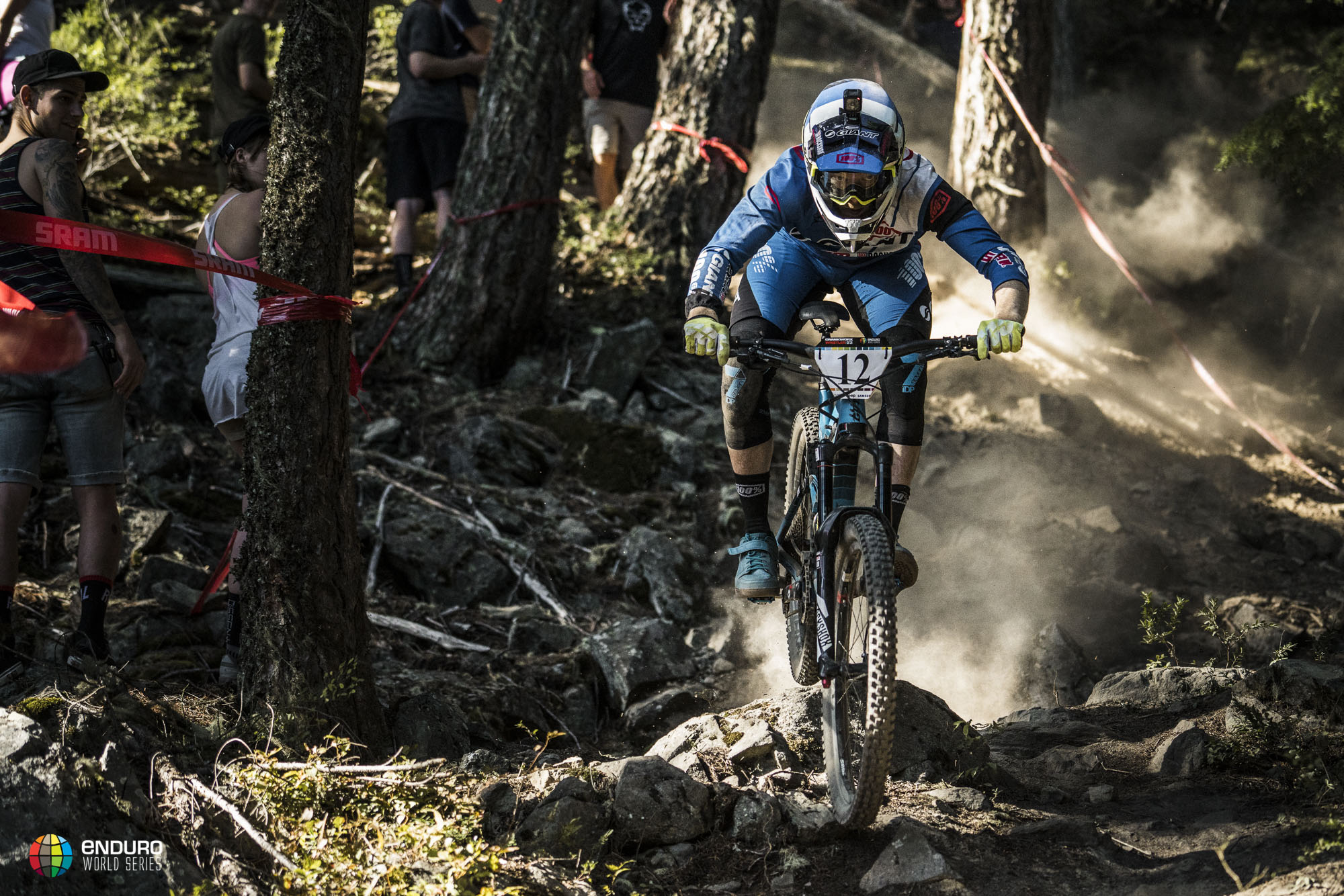 A dust trail follows Carlson on his way to 3rd place today