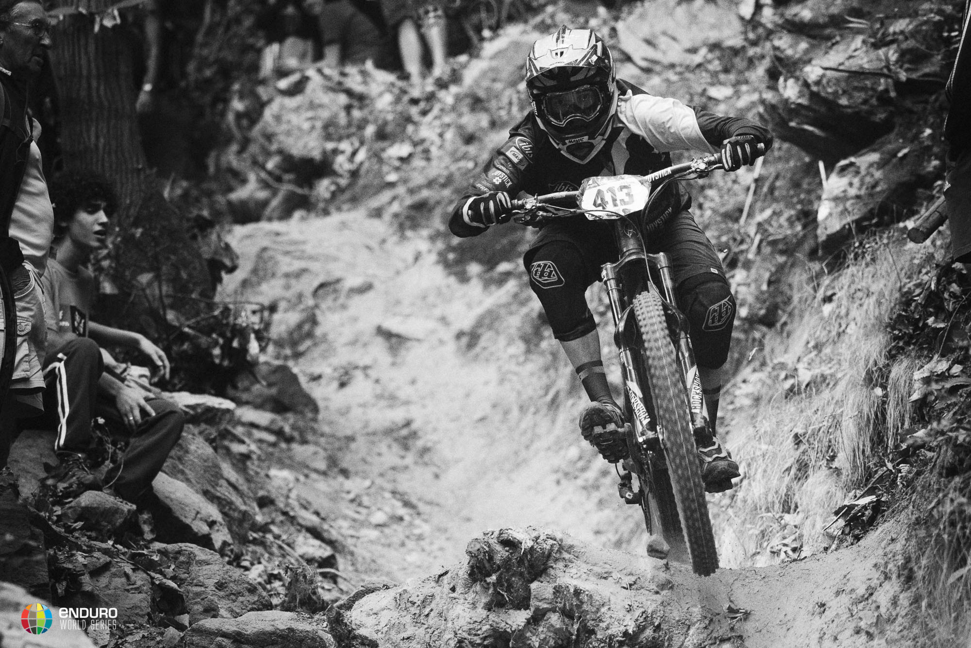 Anne Carolin Chausson raced her way to third place today, her last ever day of EWS racing as she's not racing tomorrow