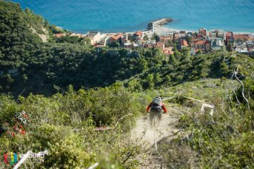 Francois Bailly-Maitre on PS4 in practice. EWS 7 2014, Finale Ligure. Photo by Matt Wragg