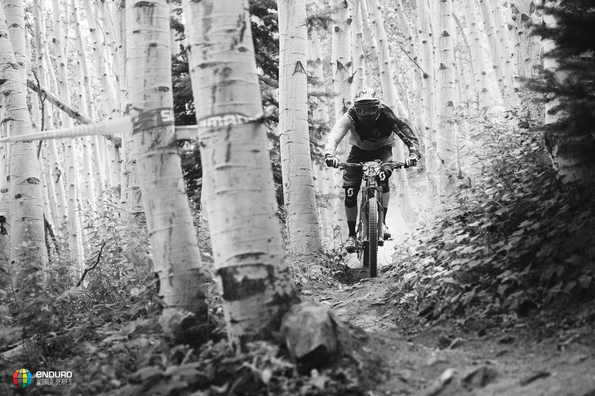 Remy Absalon has had a consistent day and pushed hard in the aspens to 7th overall