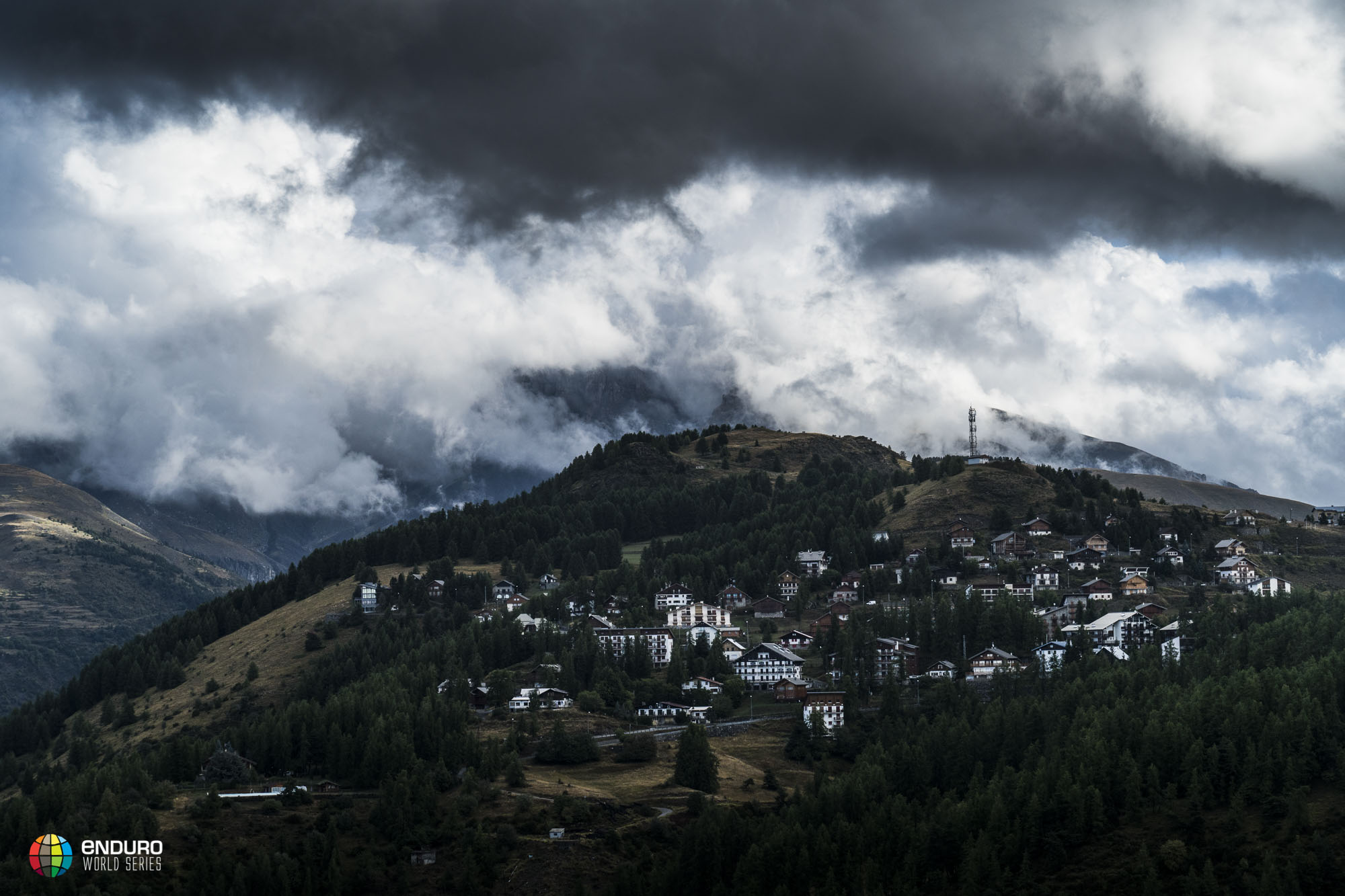 The view of Valberg was revealed after the cloud lifted from the storm the night before
