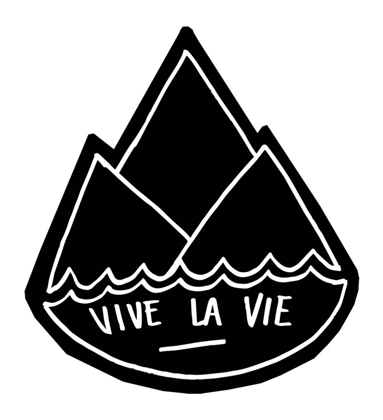 sticker vivelavie 2015 noir
